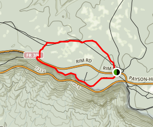 Rim Lakes Vista Trail to General Crook Trail Loop Map