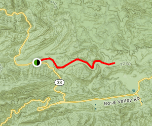 Middle Sespe Trail  Map