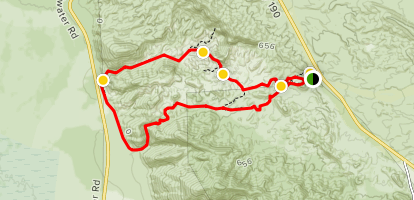 Golden Canyon and Gower Gulch Loop via Zabriskie Point Map