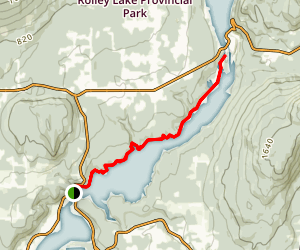 Hayward Lake Railway Trail Map