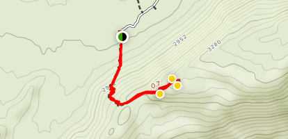 Ghost Mountain Trail to Yaquitepec Map