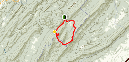 Pond Run and White Rocks Loop Trail Map