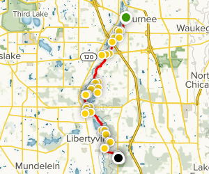 Des Plaines River Trail: Gurnee to Old School Forest Map