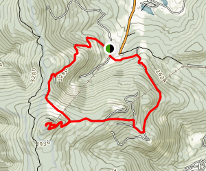 K1 Overflow Lot to Killington Peak Map