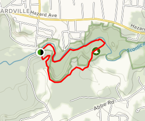 Scantic Rapids Park Powder Hollow Loop Map