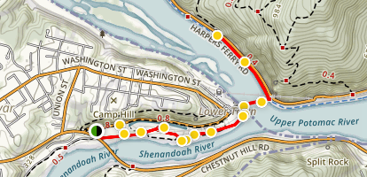 Harpers Ferry to Chesapeake and Ohio Canal Trail Map