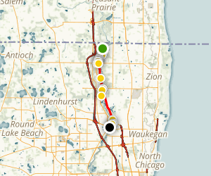 Des Plaines River Trail: State Line to Gurnee Map