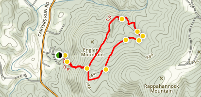 Wildcat Mountain Loop Trail [CLOSED] Map