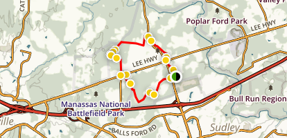 Second Battle of Manassas Trail Loop Map