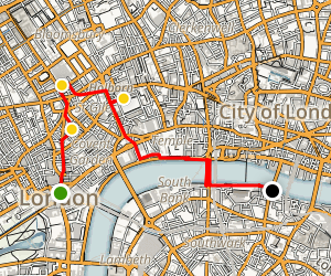 London on a Budget Walking Tour Map