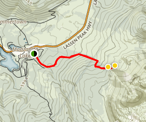 Chaos Crags Trail Map