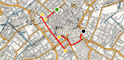 Birmingham Walking Tour Map