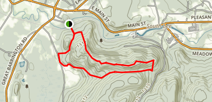 Ice Glen and Laura's Tower Trails Map