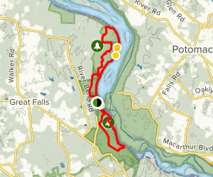Great Falls Park to Riverbend Park Loop Map