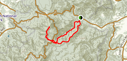 Buck Ridge Trail To Mary's Rock Loop Map