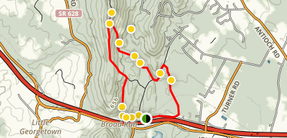 Bull Run Mountain Loop Map