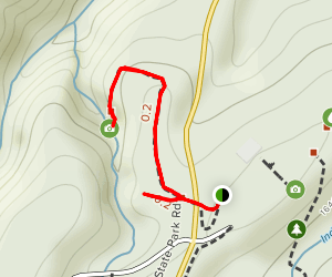 Upper Cascades Falls and Rock Garden Trail Map
