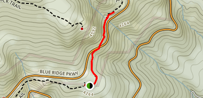 Linn Cove Viaduct Via Tanawha Trail Map