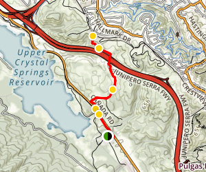 Pulgas Water Temple Area Exploration Map
