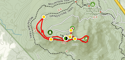 Ledge Spring, Jomeokee, and Sassafras Trails Map