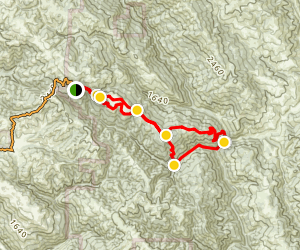 China Hole Trail Loop Map