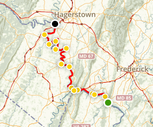 C & O Canal Towpath Trail, Section #2 Map