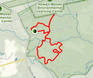 Howell Woods Environmental Learning Center Trail Map