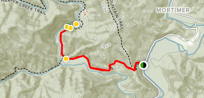 Harper Creek Falls Trail Map