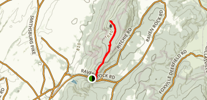 High Rock and Raven Rock via Appalachian Trail Map