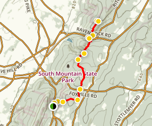 Appalachian Trail from Wolfsville Road to Raven Rock 10H Map
