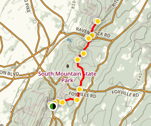 Appalachian Trail: Wolfsville Road to Raven Rock 10H Map
