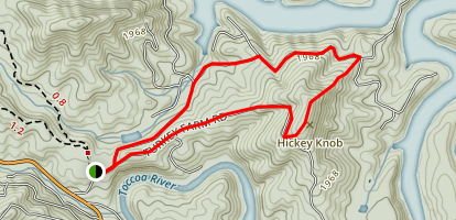Hickey Knob Trail Map