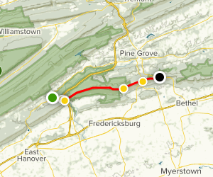 Appalachian Trail: Greenpoint to Kimmel Lookout Map