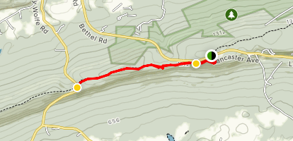 Kimmel View and Fisher Lookout via the Appalachian Trail Map