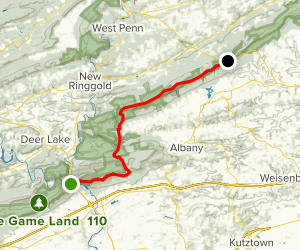 Appalachian Trail: Port Clinton to Highway 309 Map