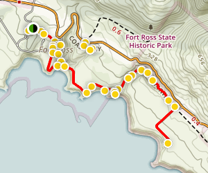 Tour of Fort Ross State Historic Park Map