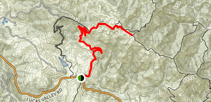 Loma Alta and Big Rock Ridge Trail Map