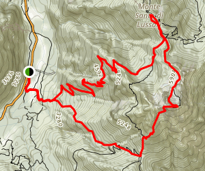 Monte Lussari Trail Map