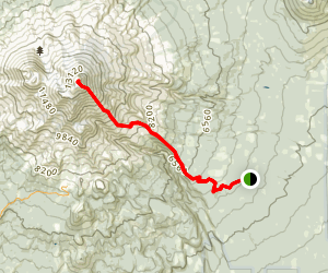 Clear Creek Route to Mount Shasta Map