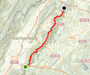 Appalachian Trail: Shenandoah National Park Map