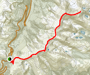 Parry  Peak and Mount Bancroft Map