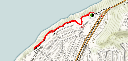 Paseo Del Mar Bluffs: Palos Verdes Estates Shoreline Preserve Map
