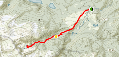 Emmaline Lake Trail Map