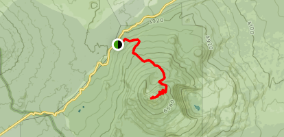 Black Crater Trail [CLOSED] Map