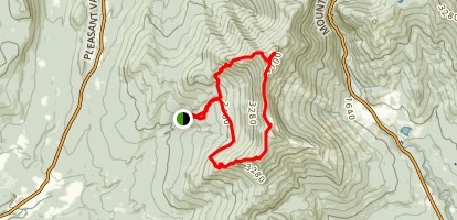 Mount Mansfield Loop Trail Map
