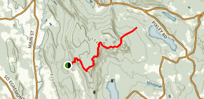 East Mountain via Appalachian Trail Map