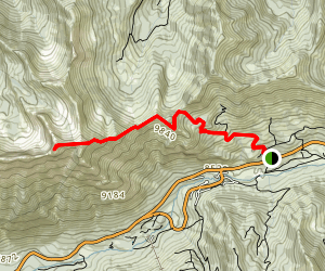 Mount Superior via Cardiff Pass Trail Map