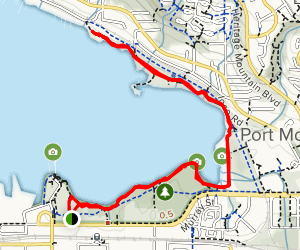 Port Moody Shoreline Trail Map
