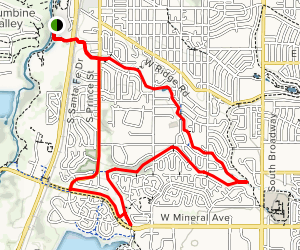 Platter River via Highline Canal and Lee Gulch Trails Map
