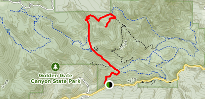 Windy Peak via Mountain Lion Trail Map